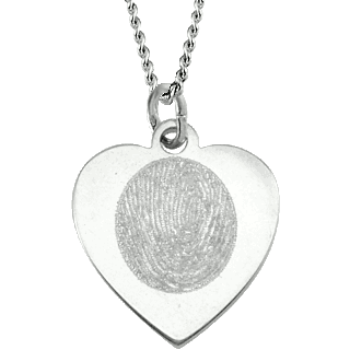 Front image of White Gold Classic Heart Pendant