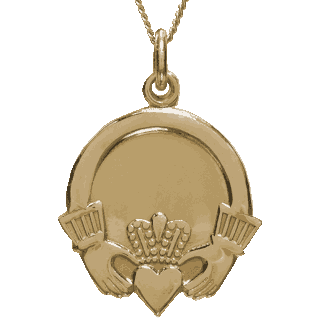 Yellow Gold Claddagh Pendant