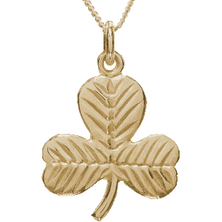 Yellow Gold Shamrock Pendant