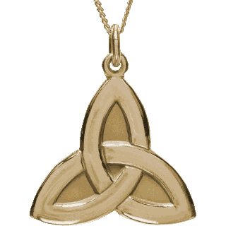 Front image of Yellow Gold Trinity Pendant
