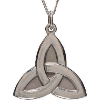 Front image of White Gold Trinity Pendant