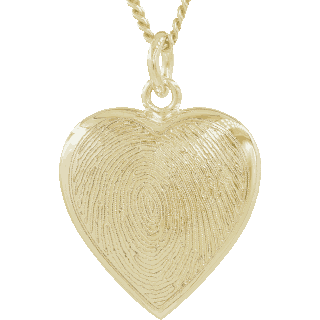 Front image of Yellow Gold Classic Heart Keepsake (Urn)