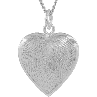 Front image of White Gold Classic Heart Keepsake (Urn)