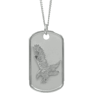 Sterling Silver Eagle Memory Tag