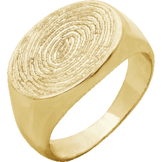 Front image of Yellow Gold Medium Signet Ring