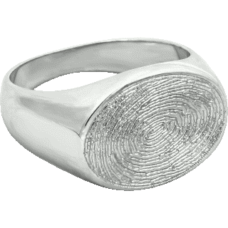Front image of White Gold Medium Signet Ring