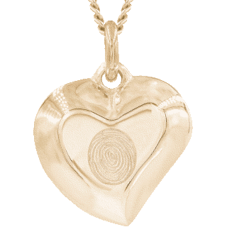 Front image of Yellow Gold Signature Heart Pendant Keepsake (Urn)