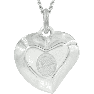 Front image of White Gold Signature Heart Pendant Keepsake (Urn)