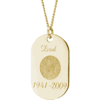 Front image of Yellow Gold Memory Tag