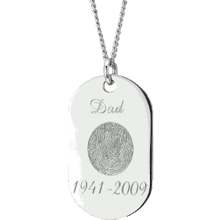 Front image of White Gold Memory Tag
