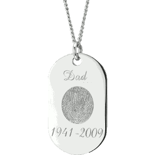 Front image of Sterling Silver Memory Tag Keepsake (Urn)