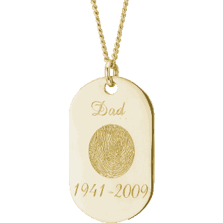 Front image of Yellow Gold Memory Tag Keepsake (Urn)