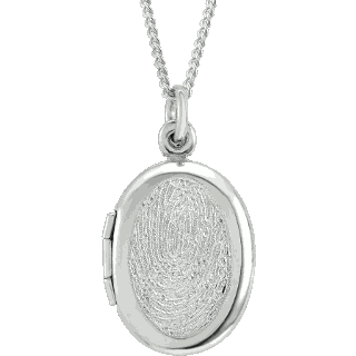 Front image of Sterling Silver Oval Locket