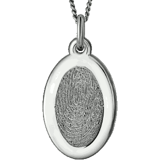 Front image of Stainless Steel Oval Pendant