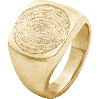 Front image of Yellow Gold Men's Ring