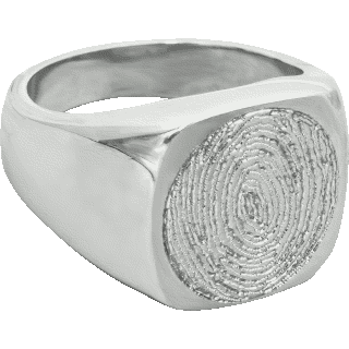 Front image of White Gold Men's Ring