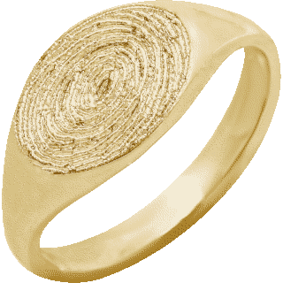 Front image of Yellow Gold Small Signet Ring