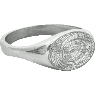 Front image of White Gold Small Signet Ring