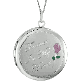 Sterling Silver Forever Circle Locket Keepsake (Urn)