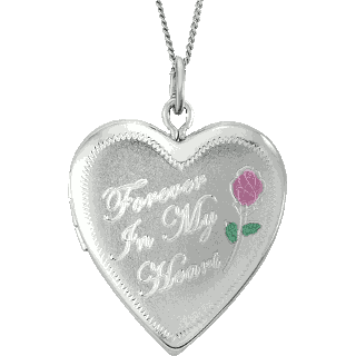Sterling Silver Forever Heart Locket Keepsake (Urn)