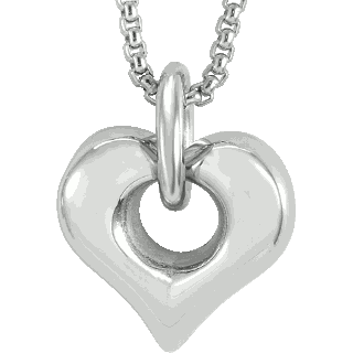 Hollow Heart Pendant Keepsake (Urn)