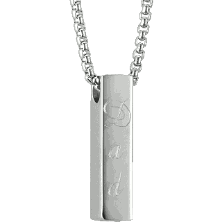 Front image of Bar Pendant Keepsake (Urn)