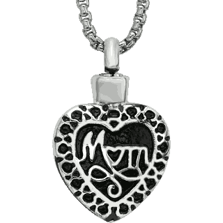 Mom Heart Pendant Keepsake (Urn)