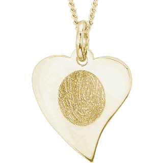 Front image of Yellow Gold Flat Heart Pendant