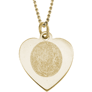 Front image of Yellow Gold Classic Heart Pendant